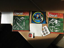 Lot of 5 Scrapbooking Stickers, Hunting, Fishing, Coca Cola, Army, Navy, Marines