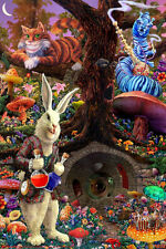 Down the Rabbit Hole - Alice in Wonderland Poster Print, 24x36