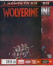 (2014) WOLVERINE #11 AND #12 FIRST PRINTING 3 MONTHS TO DIE! CORNELL! PETE WOODS