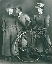 1890s Women's Bicycling Suits and Man's Knicker Suit Original News Service Photo