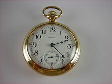 Antique Waltham Vanguard 18s 23 jewel Rail Road pocket watch. Gold filled case.