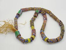 FANTASTIC CHUNKY VINTAGE TRIBAL AFRICAN TRADE BEAD NECKLACE ~ 30""