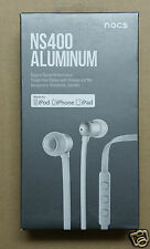 *NEW* NOCS NS400-102 Earphones w/ Remote & Mic WHITE for Apple