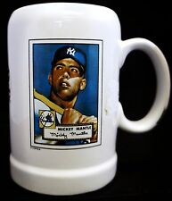 TOPPS SPORTS NOSTALGIA NEW YORK YANKEES MICKEY MANTLE CARD BEER STEIN/MUG, NEW!