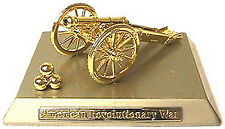 Miniature Revolutionary War Cannon on Gold Base