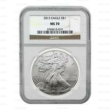 New 2013 American Silver Eagle 1oz NGC MS70 Graded Slab Coin