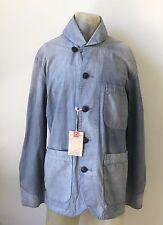 RRL Ralph Lauren Jacket Weathered Blue Shawl Collar Shipyard Coat NWT $550