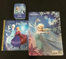 Disney Frozen Bundle Mini Tin Puzzle Anna Elsa Golden Book Ages 3+ Toy Girls Fun