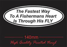 Sticker Custom Vinyl Fishing Funny 4WD Camping Bumper Fly Fishing BNIP