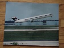 DELTA AIR LINES - LARGE PHOTO - MD 90 - ON TAKE OFF  - 20 X 16