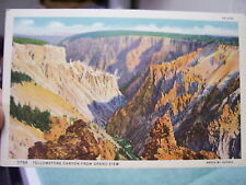 1940's POSTCARD YELLOWSTONE CANYON FROM GRAND VIEW WY HAYNES PARK