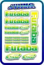 FUTABA SERVO RADIO RX TX 2.4G FLIGHT REMOTE CONTROL STICKERS FASST GREEN YELLO W