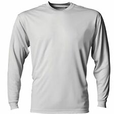 XXXL Long Sleeve Mens Rash Guard Loose Fit UV Swim Surf Shirt Swimwear Silver