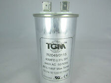 RUN CAPACITOR 40MFD x 440v  50/60Hz for A/C & Refrigeration Compressors & Motors