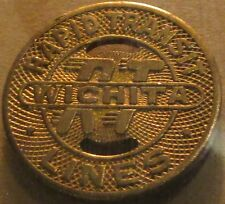 1960 Rapid Transit Lines Wichita, KS Transit Bus Token - Kansas Kans.