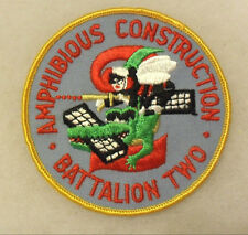 """60'S """"AMPHIBIOUS CONSTRUCTION BATTALION TWO"""" EMBROIDERED TWILL MERROWED EDGE"""