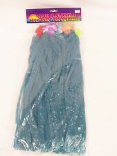 Kiddie Flowered Hula  Blue Skirt Assortment Luau Tropical Party Flowered Leis
