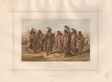 1882 LARGE ANTIQUE PRINT - ABORIGINES OF NORTH AMERICA