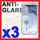 3x Anti Glare Matte Screen Protector LCD Film Guard for Samsung Galaxy S3 i9300