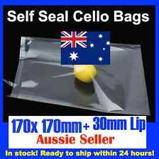 100 CELLOPHANE CELLO CLEAR BAGS - 170mm x 170mm