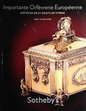 Sotheby's Important European Silver Gold Boxes and Objects of Vertu 2008 Paris