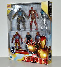 Marvel Avengers Ironman 3 Hall of Armor 6 Figures