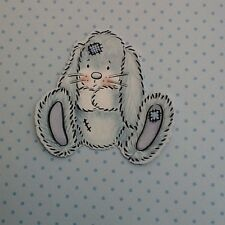 DIE CUT BUNNY CARD TOPPERS  TATTERED  LACE CARD MAKING BABY  CRAFTS SCRAPBOOKING