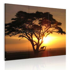 US SHIP Large Sunset Trees Framed HD Canvas Print Wall Art Picture Ready To Hang