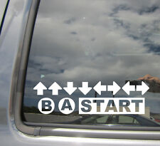 Konami Code - Game Cheat Retro Contra Gamer Vinyl Die-Cut Decal Sticker 06001