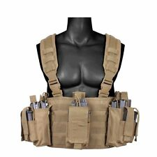 Rothco Operators Chest Rig Vest Molle Modular Tactical w/ Pouches Coyote 67551