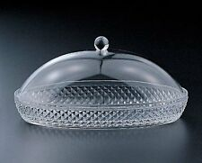 Diamond-Cut Cheese and Butter Dish W/Dome