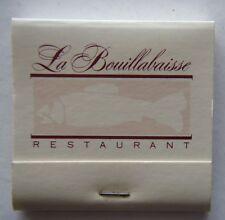 LA BOUILLABAISSE BEST FISH RESTAURANT 1455 MALVERN RD 203685 MATCHBOOK