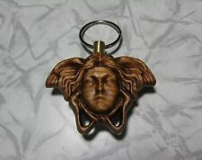key-chain medusa man head wooden double-sided keeper wood gorgon key holder