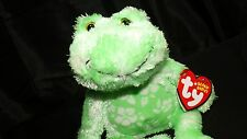TY Beanie Babies Palms Green White Frog BeanBag Plush Toy Hang & Tush Tags 2006