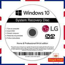 LG Windows 10 Home & Professional Recovery Repair Install Boot Disc Software