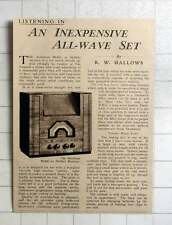 1937 The Aerodyne Model 51 Battery Receiver Review