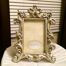Ornate Shabby Chic Resin Carved Silvery Gold 4 x 6 Picture Photo Frame
