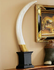 1 British Colonial Elephant Tusk Sculpture Trophy Display REPRODUCTION REPLICA