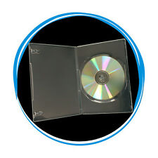 100 Clear Transparent 7mm Slim Single CD DVD Movie Case Storage Box Wholesale