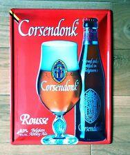 Cadre enseigne bar bistrot Plaque embouti  Bière CORSENDONK ROUSSE 30/40cm
