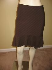 bebe Women's Brown Stripe, Two Tiered  Skirt Size 6