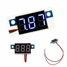 Mini Lithium Battery Digital Voltmeter DC 3.3v - 17V Blue LED Small Panel Meter