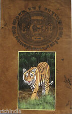 Royal Tiger Animal Painting Ethn Traditional Art Handmade Wild Life Indi_AR89
