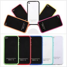 TPU Silicone Frame Bumper Hard Case Cover Skin for iPhone 4G 4S F5