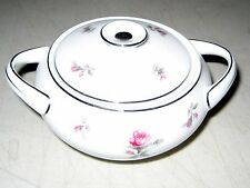 Vintage Meito Rosechintz China Sugar Bowl with Lid Pink Roses