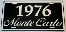 1976 76 MONTE CARLO METAL LICENSE PLATE 350 400 454 SS LOWRIDER CHEVY