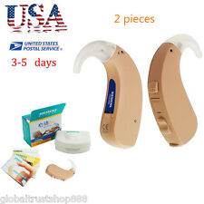 2 Pcs From USA SIEMENS HIGH-POWER DIGITAL MINI BTE HEARING AID TOUCHING EARS CE