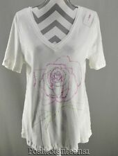 Lane Bryant 14 16 Top Graphic Dressed To Thrill V Neck Womens Plus Tee NEW kfp1