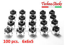 100 Pulsanti tattili da PCB 6x6x5 - Tactile Push Button Switch Arduino