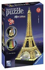 Ravensburger Eiffel Tower Building 3D Jigsaw Puzzle with Lights (216 Pieces)